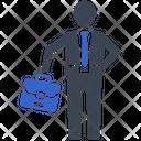 Office Businessman Briefcase Icon