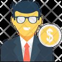 Businessman Businessperson Accountant Icon