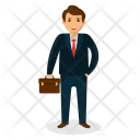 Businessman Portfolio Dealer Icon