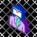 Businessman Case Head Icon