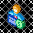 Businessman Case Money Icon