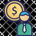 Business Mind Businessman Dollar Icon