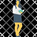 Businesswomen Employee Handsome Icon