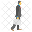 Businessman Running Meeting Icon