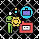 Businessman Work Optimize Icon