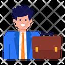Business Employee Businessman Job Person Icon