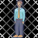 Businessman Man Hipster Icon