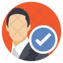 Selected Candidate Businessman Icon