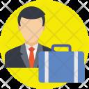 Businessman Travel Travelling Icon