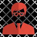 Glasses User Avatar Icon