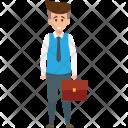 Standing Businessman Employer Icon