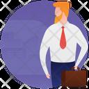 Entrepreneur Business Travel Business Tour Icon