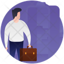 Entrepreneur Business Travel Business Tour Icon