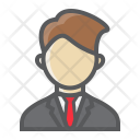 Businessman Avatar User Icon