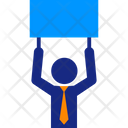 Businessman And Cardboard Icon