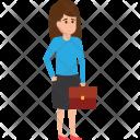 Businessman Women Assistant Icon