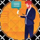 Businessman Chatting Icon