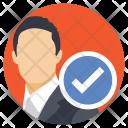 Businessman Checkmark Icon