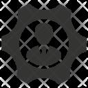 Businessman Cog Control Icon