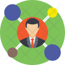 Businessman Connections Icon