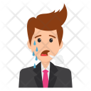 Crying Business Character Icon