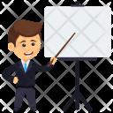 Businessman Giving Presentation Icon