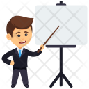 Presentation Presenting Analyst Icon