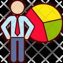Business Man Graph Icon