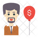 Businessman Growth Icon