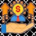 Businessman Growth Icon