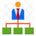 Flow Chart Diagram Business Man Icon