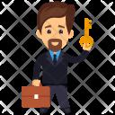 Holding Key Success Icon