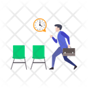 Businessman In Hurry Icon