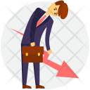 Businessman In Loss Icon