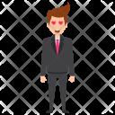 Businessman Hearts Love Icon