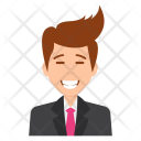 Businessman Laughing Icon