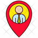 Map Pin Executive Icon
