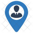Businessman Location Icon
