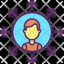 Businessman Network Icon