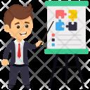 Businessman Presentation Icon