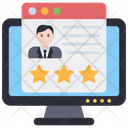 Profile Rating Profile Review Businessman Rating Icon