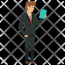 Businessman Reading Icon