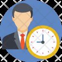 Businessman Routine Time Icon