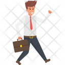 Businessman Running Icon