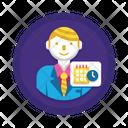 Businessman schedule Icon
