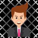 Businessman Smiling Icon