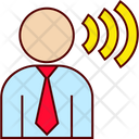 Businessman Talk Speech Icon