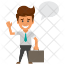 Businessman Thinking Icon