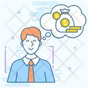 Business Fantasy Business Dream Businessman Thinking Icon