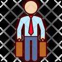 Businessman Traveler Business Man Icon